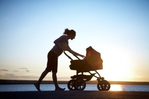 a walk with baby can be the perfect prescription for physical and mental health